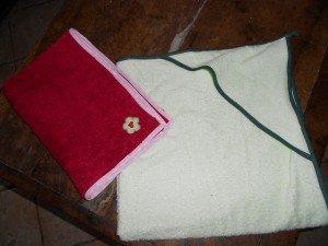 serviette pour princesse et sortie de bain du prince